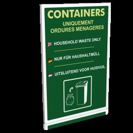 Containers - Uniquement ordures ménagères