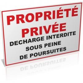 Propriété privée décharge interdite