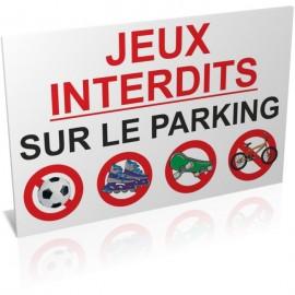 Entrée  Jeux interdits sur le parking