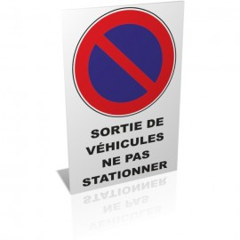 Sortie de véhicules ne pas stationner