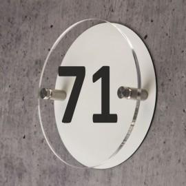 Numéro de maison rond