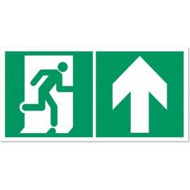 Direction d'une sortie de secours droit devant