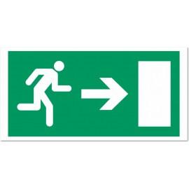 Direction d'une sortie de secours à droite