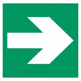 Flèche directionnelle à 90 degrés