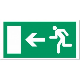 Direction d'une sortie de secours vers la gauche
