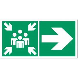 Direction vers un point de rassemblement vers la droite