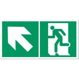 Direction d'une sortie de secours en montant à gauche