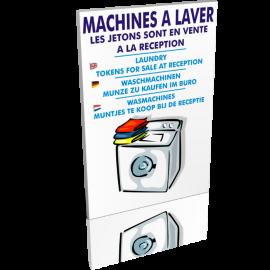 Sanitaires  Machines à laver - Les jetons sont en vente