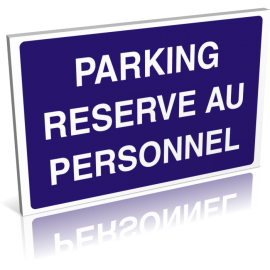 Parking réservé au personnel