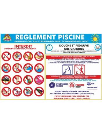 Règlement piscine grand format ECO