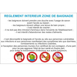 REGLEMENT INTERIEUR ZONE DE BAIGNADE