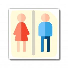 Sanitaires  plaque toilettes mixtes