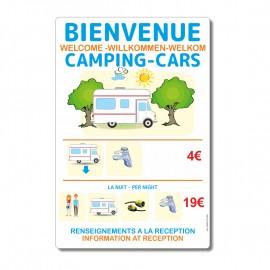 Panneau tarifs camping-cars - La-Girafe.com