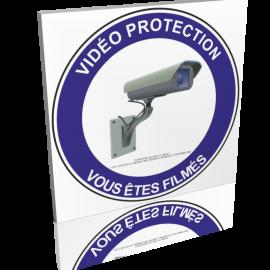 Vidéo protection - Vous êtes filmés - Bleu