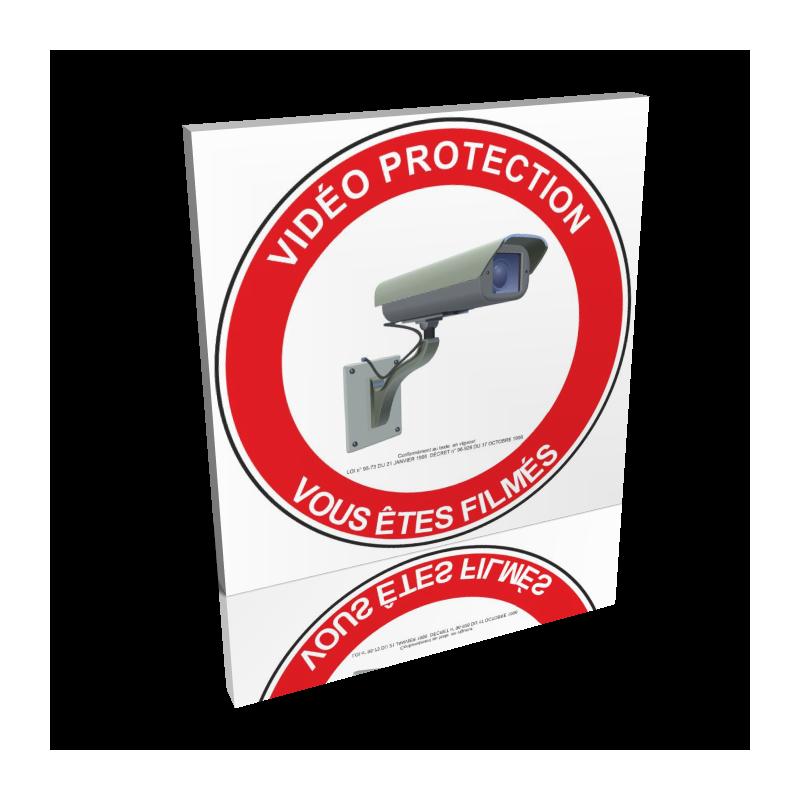 Vidéo protection - Vous êtes filmés - Rouge