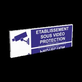 Etablissement sous vidéo protection - bleu