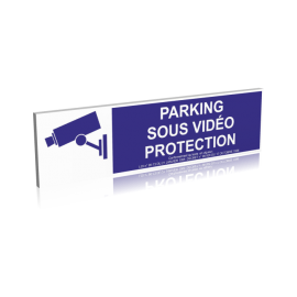 Parking sous vidéo protection - Bleu