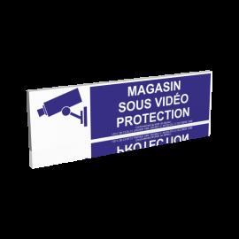 Magasin sous vidéo protection - Bleu