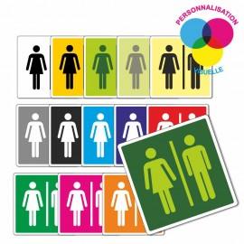 plaque de porte couleur 150mmx150mm