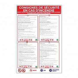 Consignes de sécurité en cas d'incendie - La-Girafe.com