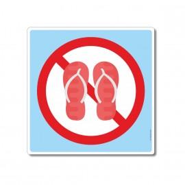 Chaussures interdites sur...