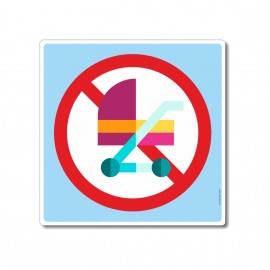 Poussettes interdites sur...