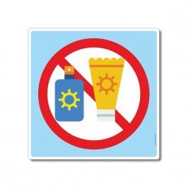 Crème solaire interdite...