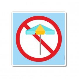 Les parasols sont interdits...