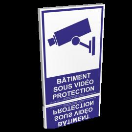 Bâtiment sous vidéo protection - Bleu