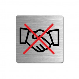 Plaque ne pas se serrer les mains sobre