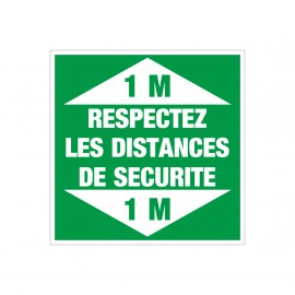 2 Adhésifs sol respectez les distances de sécurité