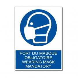 Plaque port du masque obligatoire