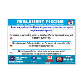 Règlement piscine covid-19