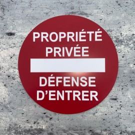 plaque propriété privée