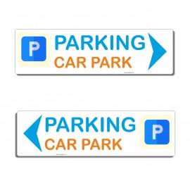 Panneau directionnel Parking