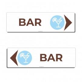 Panneau directionnel Bar