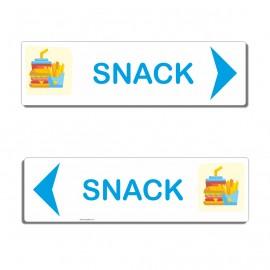 Panneau directionnel Snack