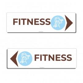 Panneau directionnel fitness