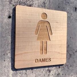 signalétique en bois dames