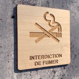 signalétique en bois interdiction de fumer
