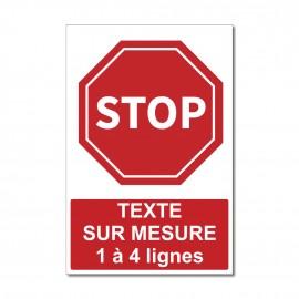 Panneau STOP sur mesure