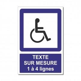 Panneau Handicapés sur mesure