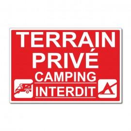 Terrain privé camping interdit