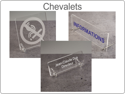 Plaques sur Chevalet