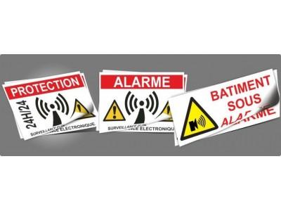 Adhésifs alarmes