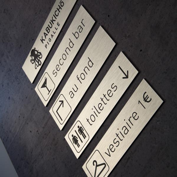 plaques signalétique design